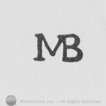 Mb Letters Four Colors Abstract Background Stock Vector 418674175 ...
