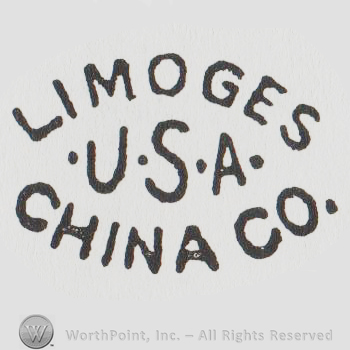 mark with the text limoges china co usa with 6428. Black Bedroom Furniture Sets. Home Design Ideas